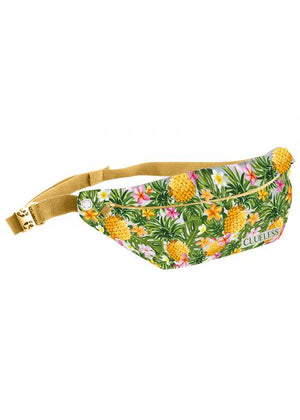 Clueless Sacs Banane Femme Multicolore Blanc - Ceinture Noir - Collection Tropical | XBCL0017-005