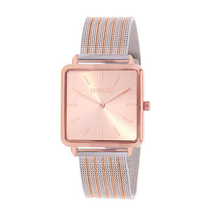 Clueless Montre Femme - Collection Fame - Acier Bicolore - Cadran Rose | BCL10144-812