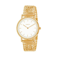 Clueless Montre Femme - Collection Intense - Acier Dor - Cadran Blanc | BCL10134-101