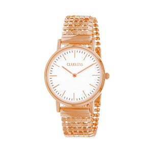 Clueless Montre Femme - Collection Intense - Acier Rose - Cadran Blanc | BCL10134-801