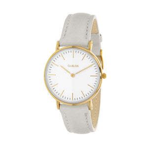 Clueless Montre Femme - Collection Classic - Cuir Beige - Cadran Blanc | BCL10072-102