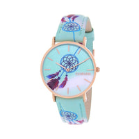 Clueless Montre Femme - Collection Tribal - Cuir Bleu - Cadran Bleu | BCL10031-079