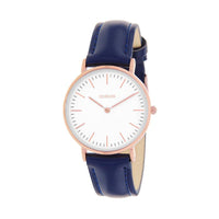 Clueless Montre Femme - Collection Classic - Cuir Marine - Cadran Blanc | BCL10072-803
