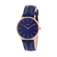 Clueless Montre Femme - Collection Classic - Cuir Marine - Cadran Marine | BCL10072-804
