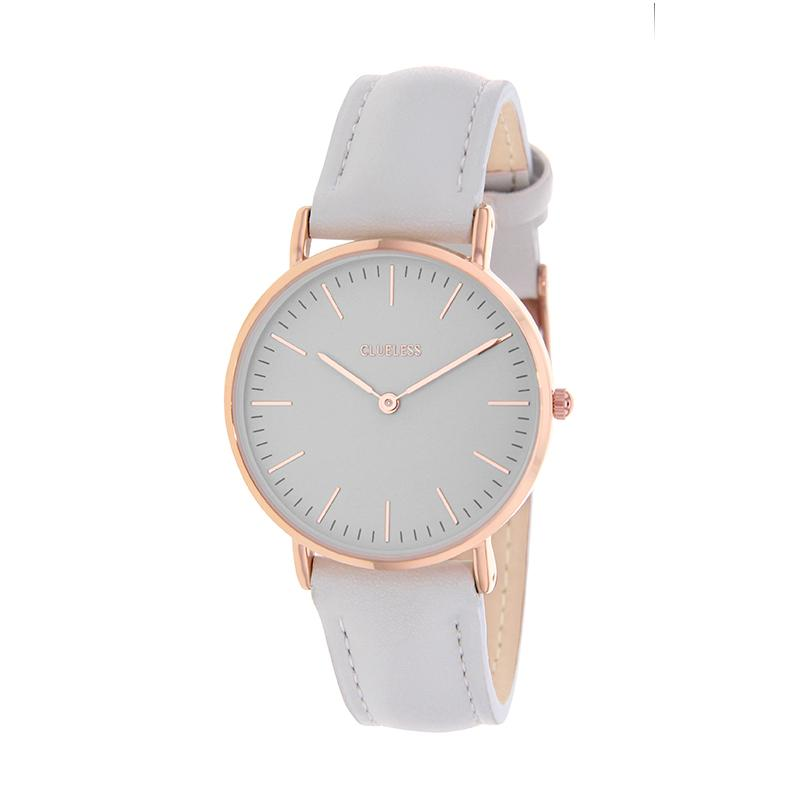 Clueless Montre Femme - Collection Classic - Cuir Gris - Cadran Gris | BCL10072-807