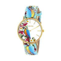 Clueless Montre Femme - Collection Tropical - Cuir Multicolore - Boitier Dore | BCL10031-009