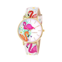 Clueless Montre Femme - Collection Tropical - Cuir Multicolore - Boitier Dore | BCL10031-014