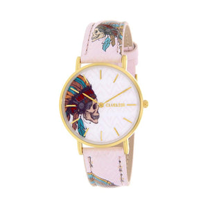 Clueless Montre Femme - Collection Tribal - Cuir Multicolore - Boitier Dore | BCL10031-036