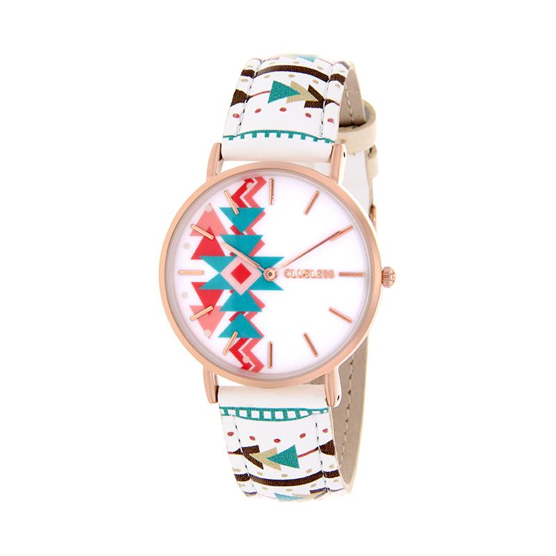 Clueless Montre Femme - Collection Tribal - Cuir Multicolore - Boitier Rose Gold | BCL10031-037