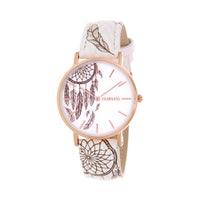 Clueless Montre Femme - Collection Tribal - Cuir Multicolore - Boitier Rose Gold | BCL10031-038