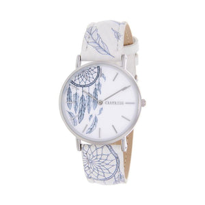 Clueless Montre Femme - Collection Tribal - Cuir Multicolore - Boitier Argent | BCL10031-039