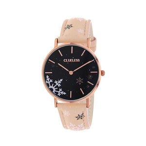 Clueless Montre Femme - Collection Happy - Cuir Multicolore - Boitier Rose Gold | BCL10031-041