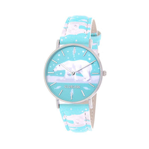Clueless Montre Femme - Collection Happy - Cuir Multicolore - Boitier Argent | BCL10031-046