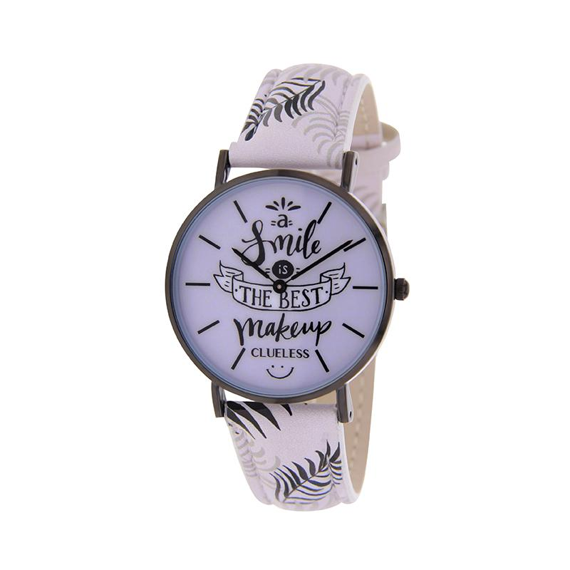 Clueless Montre Femme - Collection Happy - Cuir Multicolore - Boitier Metalic | BCL10031-052