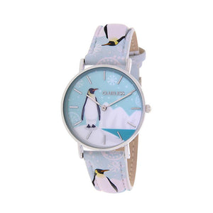 Clueless Montre Femme - Collection Happy - Cuir Multicolore - Boitier Argent | BCL10031-055