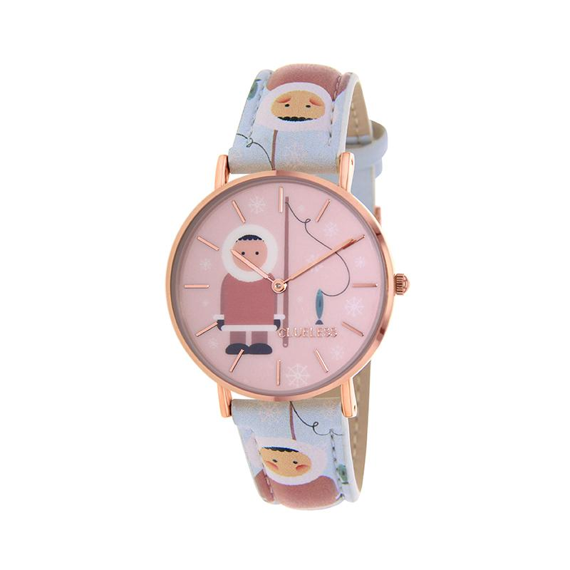 Clueless Montre Femme - Collection Happy - Cuir Multicolore - Boitier Rose Gold | BCL10031-056