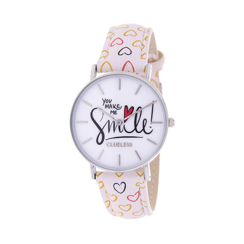 Clueless Montre Femme - Collection Happy - Cuir Multicolore - Boitier Argent | BCL10031-058