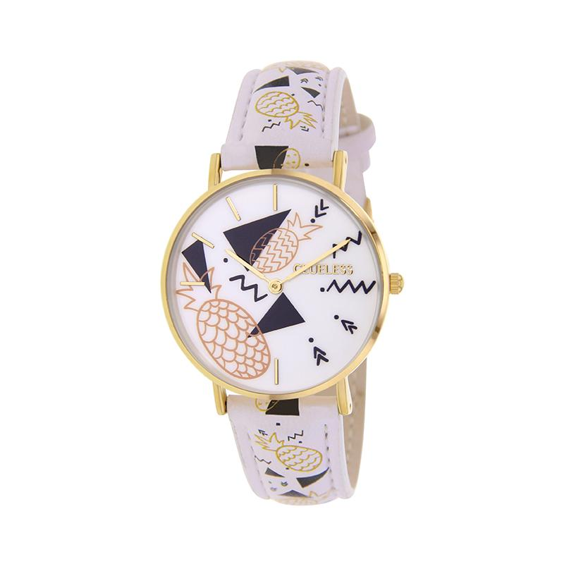 Clueless Montre Femme - Collection Happy - Cuir Multicolore - Boitier Dore | BCL10031-059