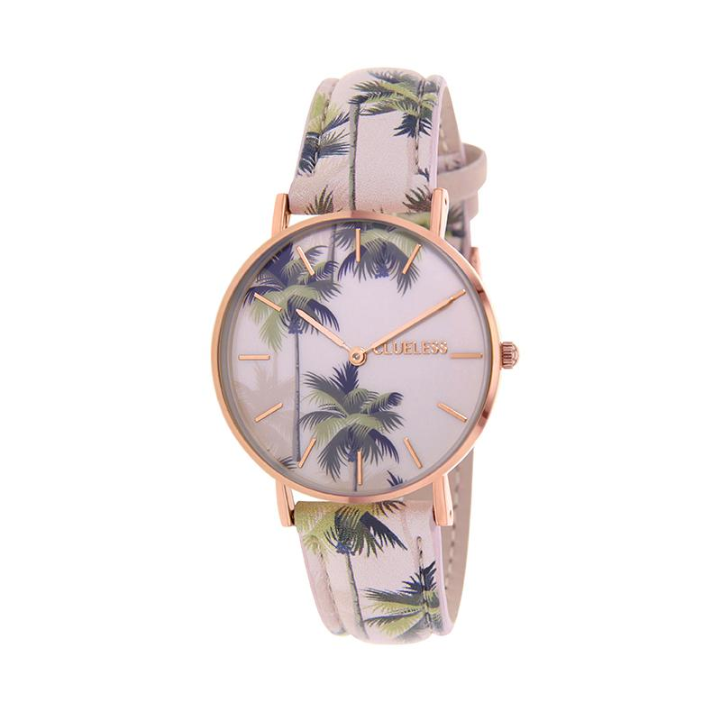 Clueless Montre Femme - Collection Tropical - Cuir Multicolore - Boitier Rose Gold | BCL10031-062