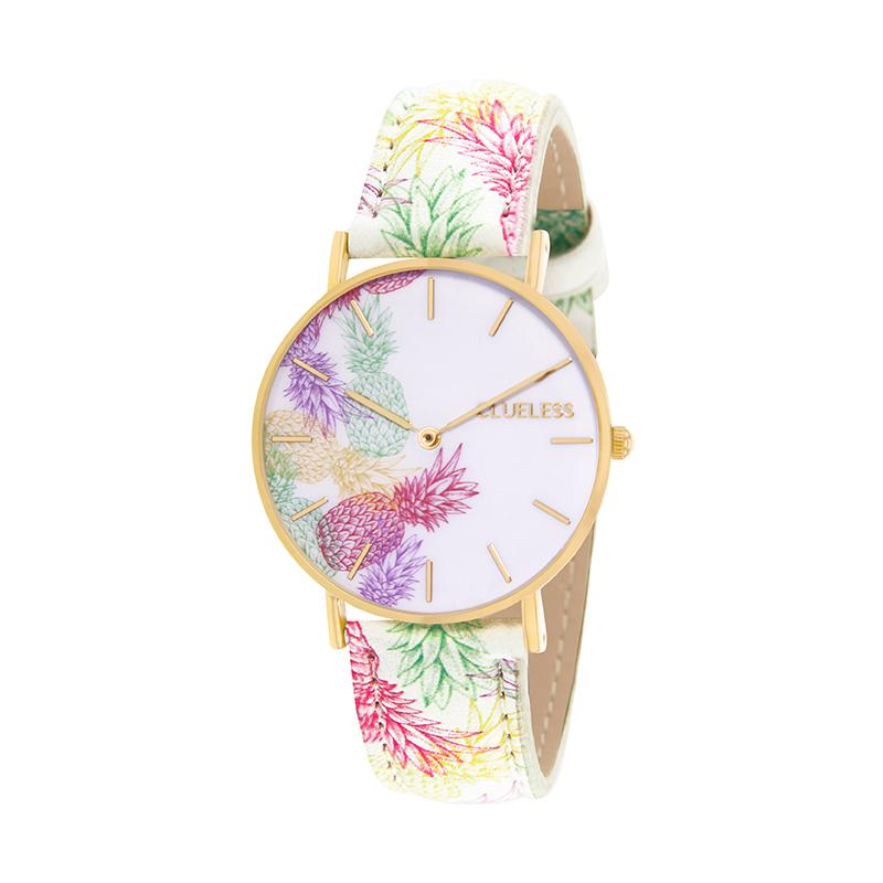 Clueless Montre Femme - Collection Tropical - Cuir Multicolore - Cadran Multicolore | BCL10032-001