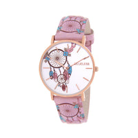 Clueless Montre Femme - Collection Tribal - Cuir Rose - Cadran Multicolore | BCL10031-078