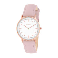 Clueless Montre Femme - Collection Classic - Cuir Rose - Cadran Blanc | BCL10072-810
