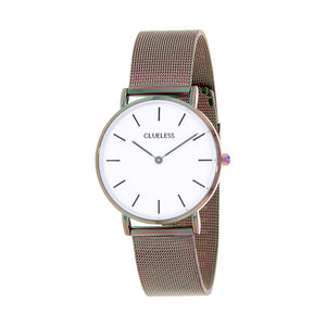Clueless Montre Femme - Collection Classic - Mesh - Cadran Blanc | BCL10094-505