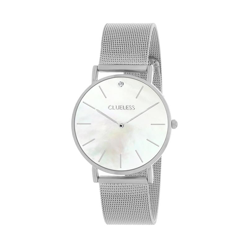 CLUELESS Montre Femme - Collection Grace - Mesh Argent | BCL10184-201
