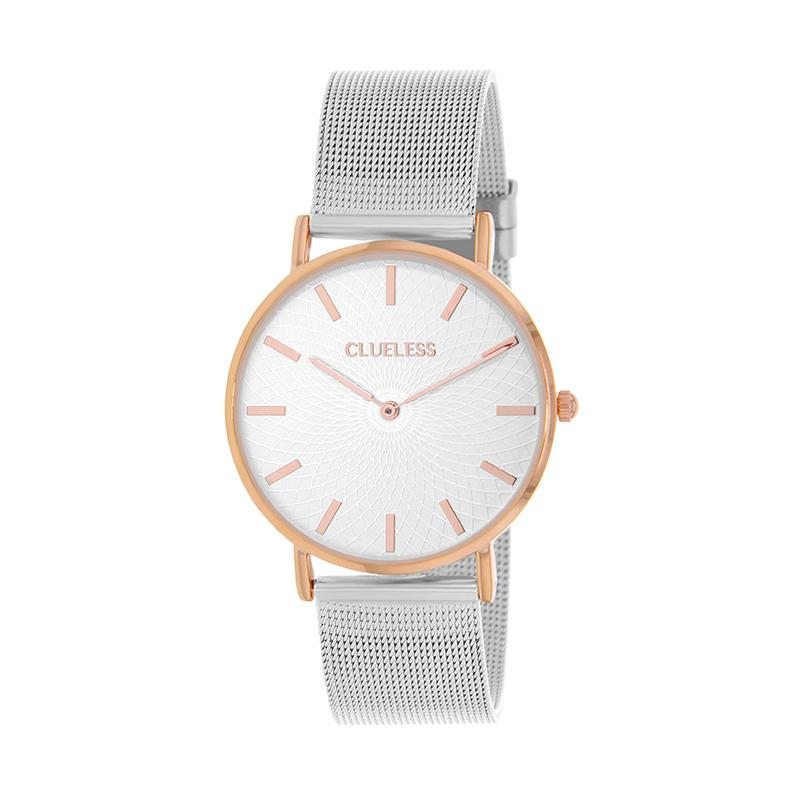 Clueless Montre Femme - Collection Classic - Mesh Argent - Cadran Argent | BCL10004-301