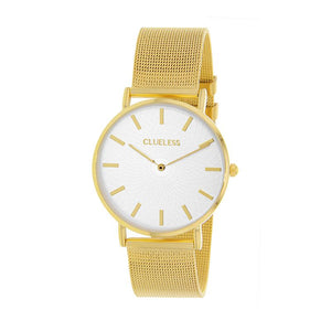 Clueless Montre Femme - Collection Classic - Mesh Or - Cadran Argent | BCL10004-101