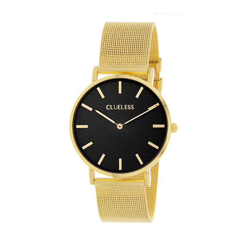 Clueless Montre Femme - Collection Classic - Mesh Or - Cadran Noir | BCL10004-103