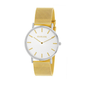 Clueless Montre Femme - Collection Classic - Mesh Or - Cadran Argent | BCL10004-307