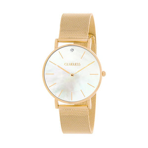CLUELESS Montre Femme - Collection Grace - Mesh Dore | BCL10184-101