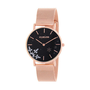 Clueless Montre Femme - Collection Happy - Cuir Multicolore - Boitier Rose Gold | BCL10034-041