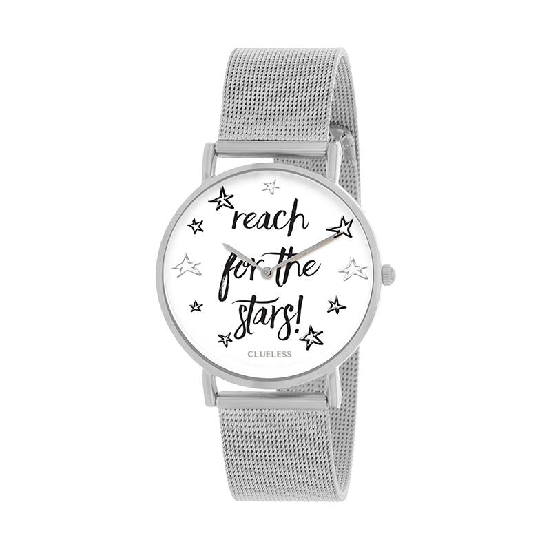 Clueless Montre Femme - Collection Happy - Cuir Multicolore - Boitier Argent | BCL10034-048