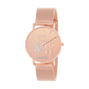 Clueless Montre Femme - Collection Happy - Cuir Multicolore - Boitier Rose Gold | BCL10034-049