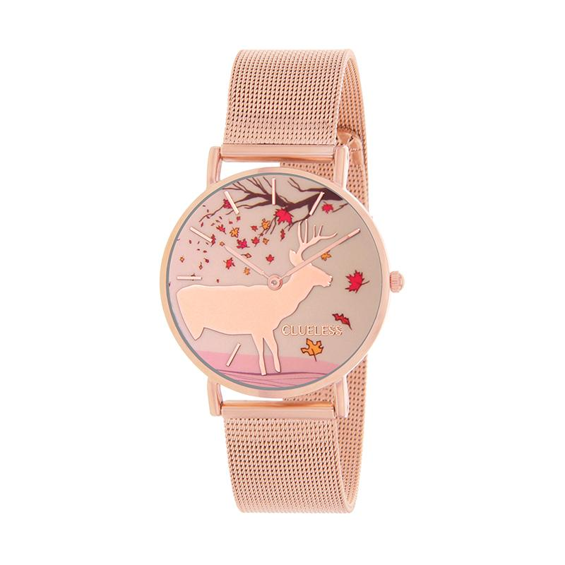 Clueless Montre Femme - Collection Happy - Cuir Multicolore - Boitier Rose Gold | BCL10034-053