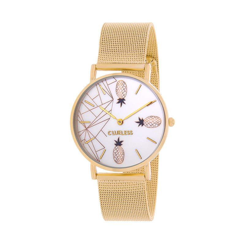 Clueless Montre Femme - Collection Tropical - Cuir Multicolore - Boitier Dore | BCL10034-066