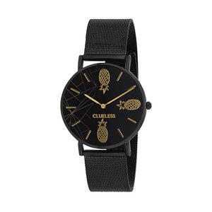 Clueless Montre Femme - Collection Tropical - Cuir Multicolore - Boitier Noir | BCL10034-067