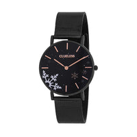 Clueless Montre Femme - Collection Happy - Cuir Multicolore - Boitier Noir | BCL10034-941