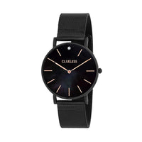 CLUELESS Montre Femme - Collection Grace - Mesh Noir | BCL10184-903