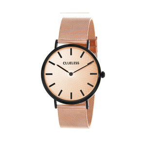 Clueless Montre Femme - Collection Classic - Mesh Or Rose - Cadran Or Rose | BCL10004-304