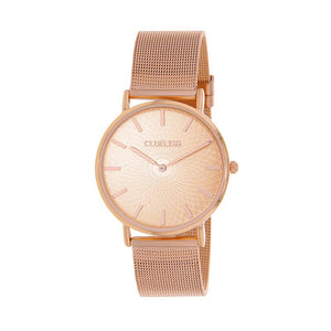 Clueless Montre Femme - Collection Classic - Mesh Or Rose - Cadran Or Rose | BCL10004-800