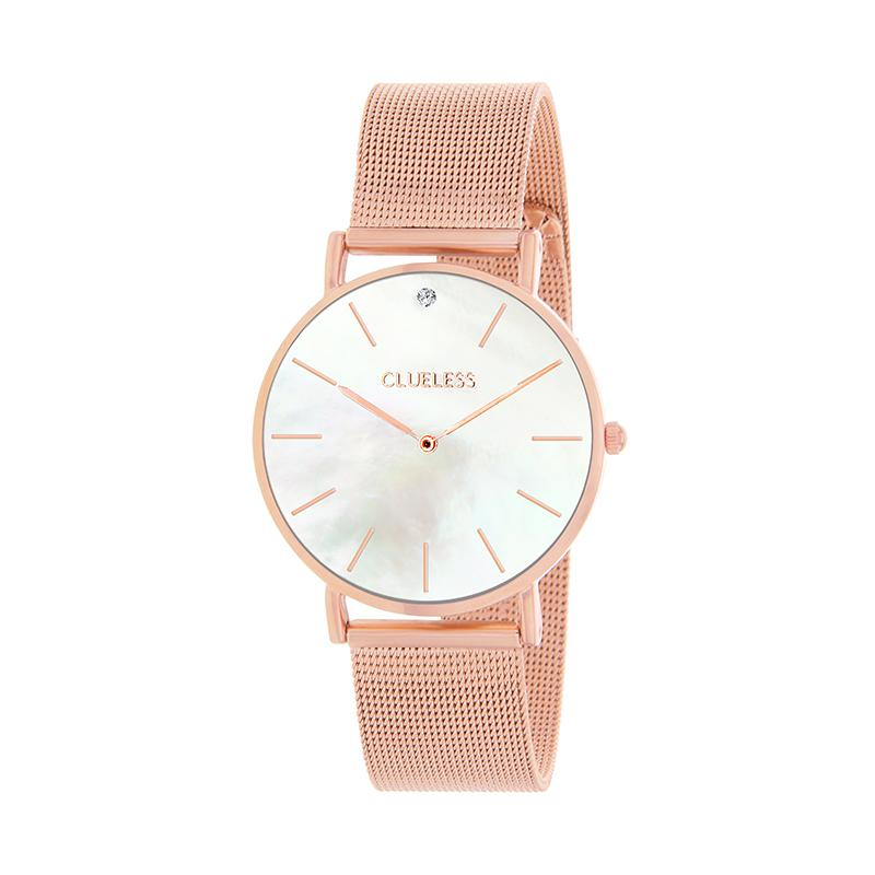 CLUELESS Montre Femme - Collection Grace - Mesh Rose Gold | BCL10184-801