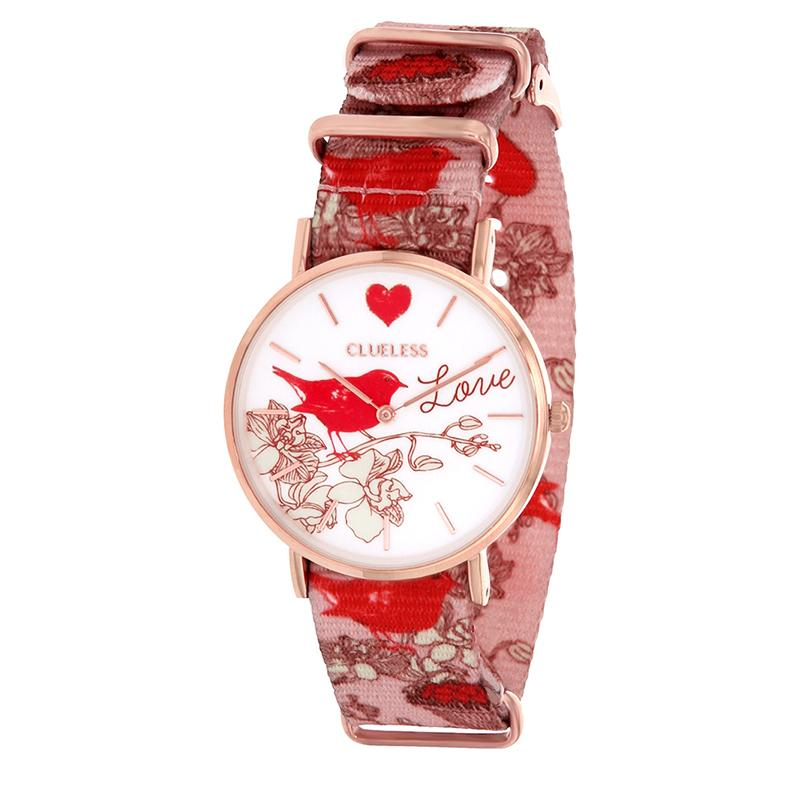 Clueless Montre Femme - Collection Society - Tissu - Cadran | BCL10118-016