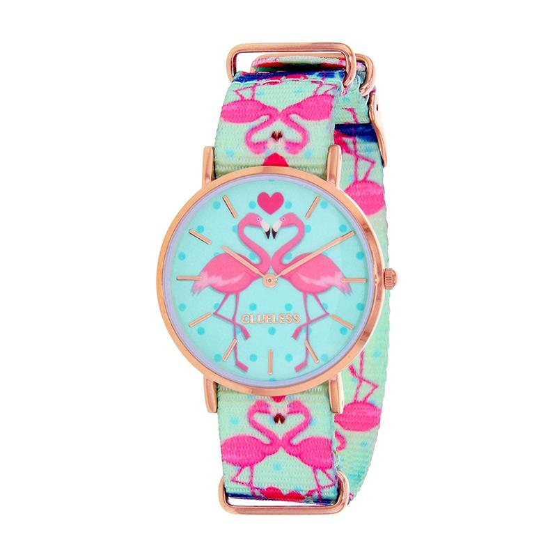 Clueless Montre Femme - Collection Society - Tissu - Cadran | BCL10118-003