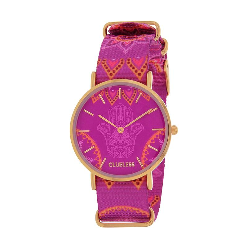 Clueless Montre Femme - Collection Society - Tissu - Cadran | BCL10118-009