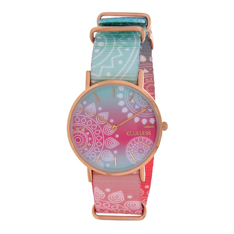 Clueless Montre Femme - Collection Society - Tissu - Cadran | BCL10118-015