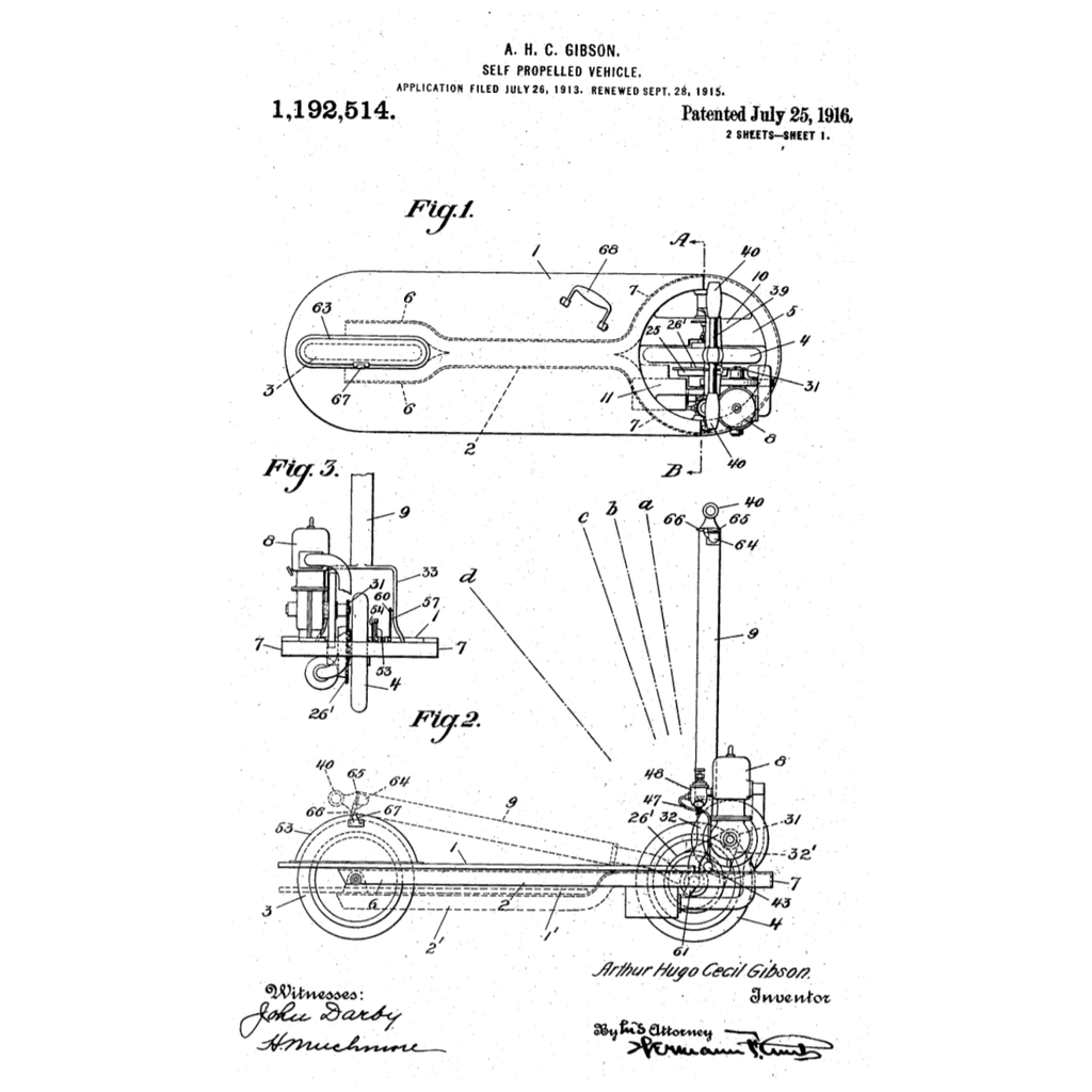 motorized-scooter-us-patent-invented