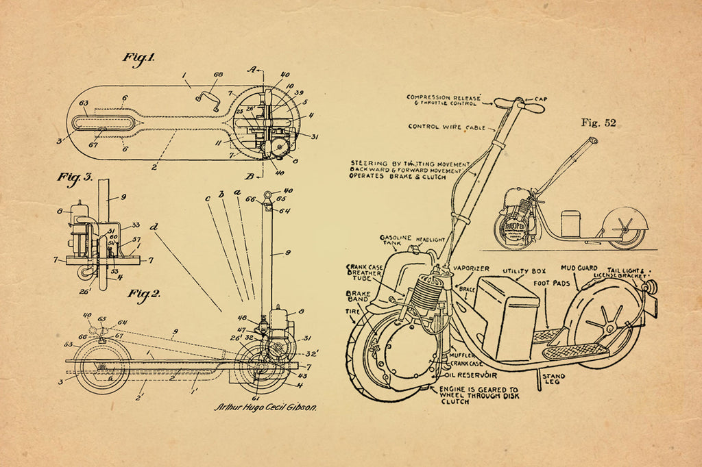 moped kick starter schematic the scooter  a brief history  the scooter  a brief history